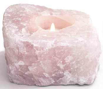 ROSE QUARTZ TEALIGHT HOLDER