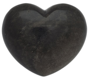 Black obsidian sheen Heart