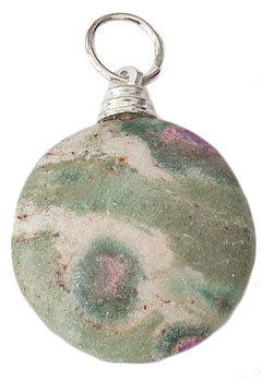 Ruby in Fuchsite Pendant