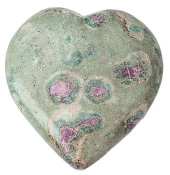 Ruby in Fuchsite Heart