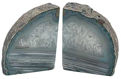 Agate book end