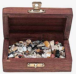 Mini Tumbled stones in chest