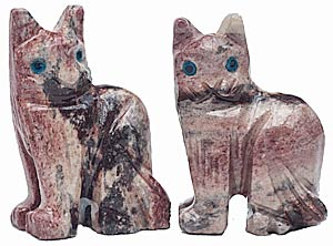 Carved SoapstoneCats
