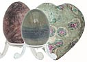 Hearts Eggs Shiva Lingam Amethyst, rose quartz, agate, calcite, ruby fuchsite, quartz